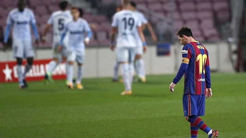 Barca và Messi lại vừa có thêm một trận đấu thất vọng